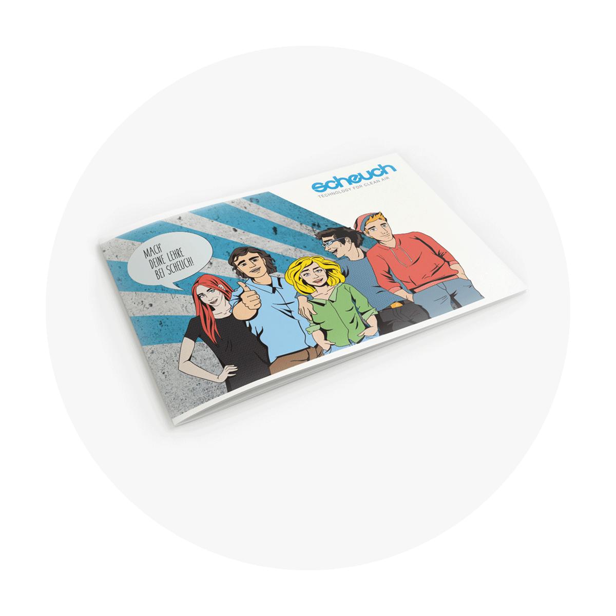 Scheuch Lehrlingsfolder Cover Mockup