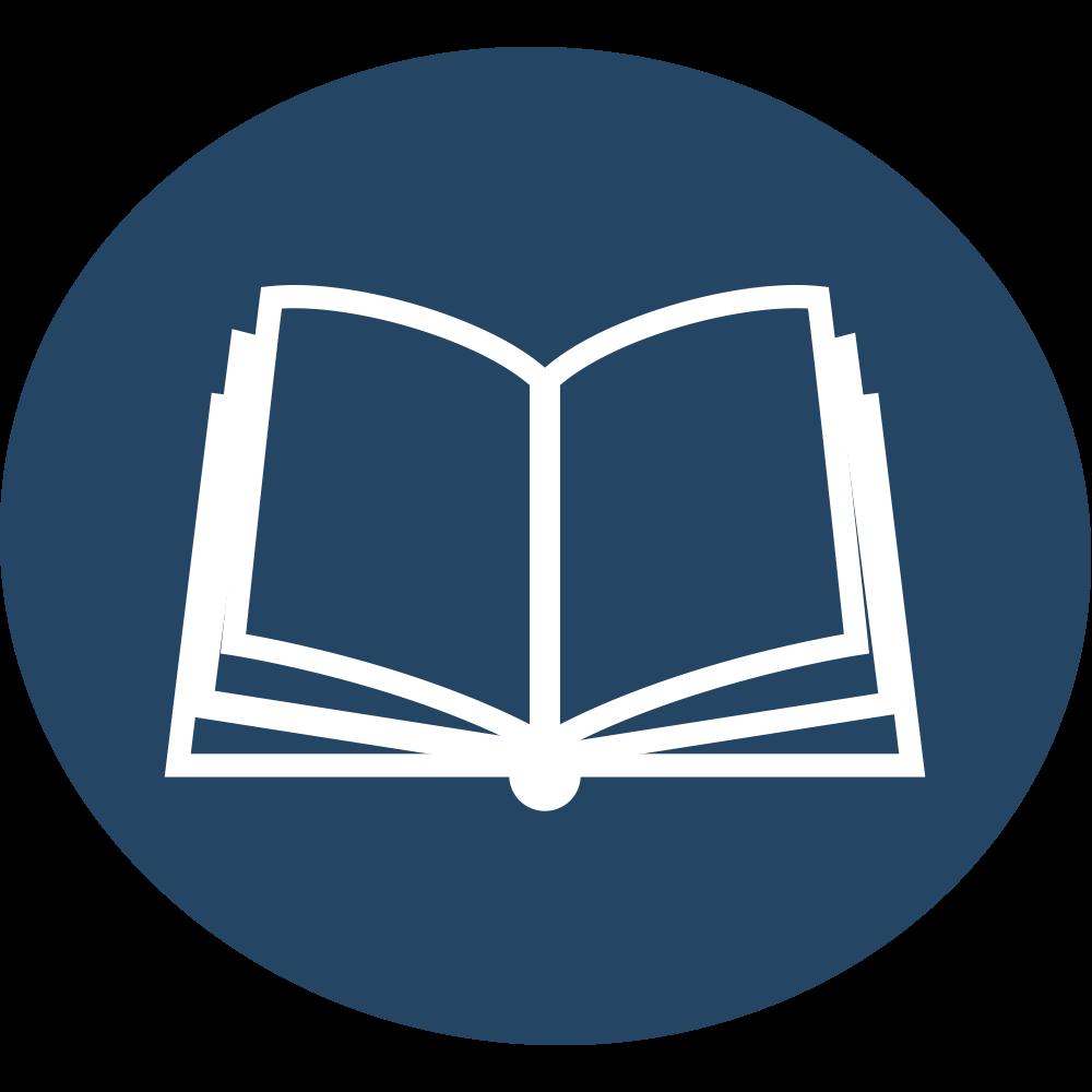 Icon Buch Blau