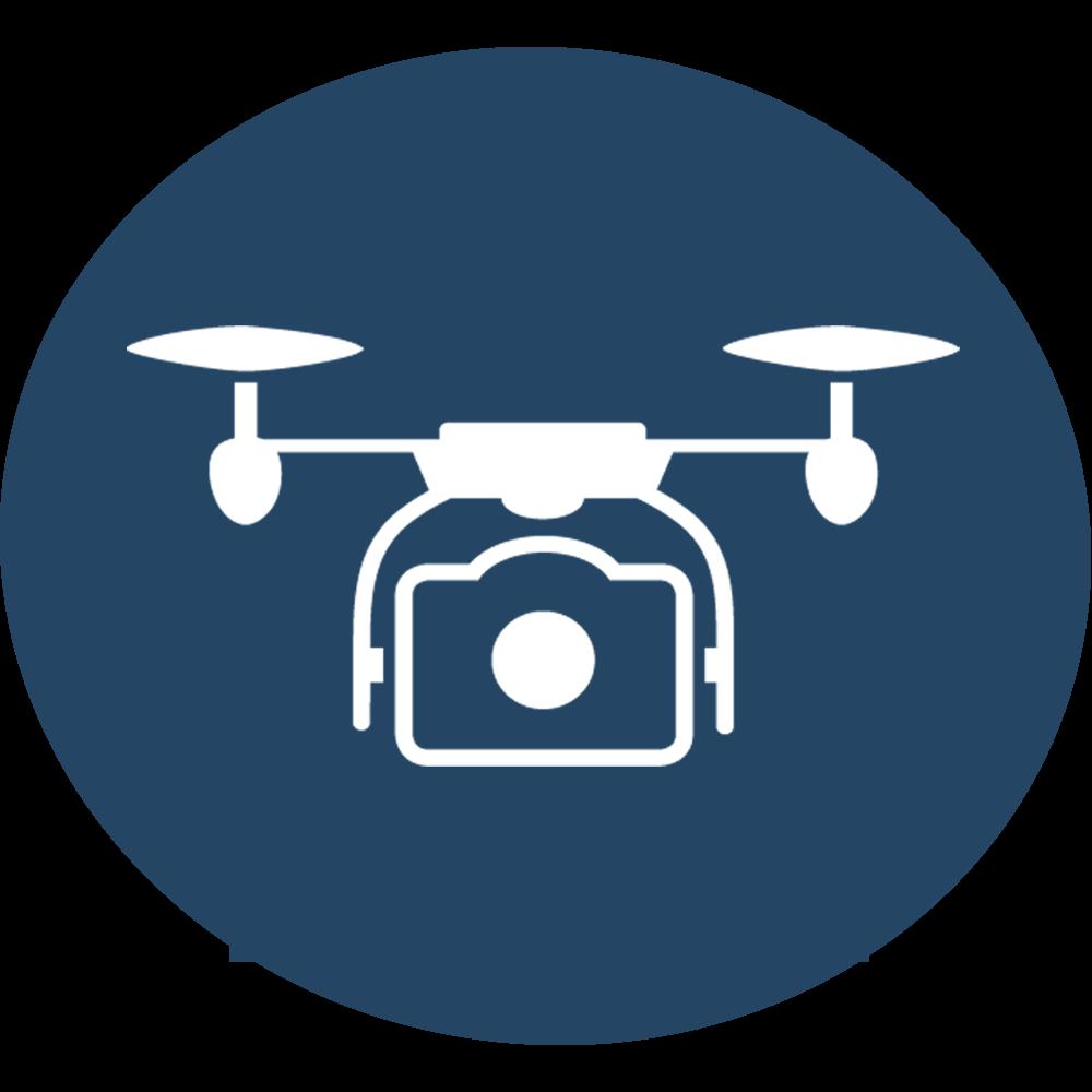 Icon Drohne Blau
