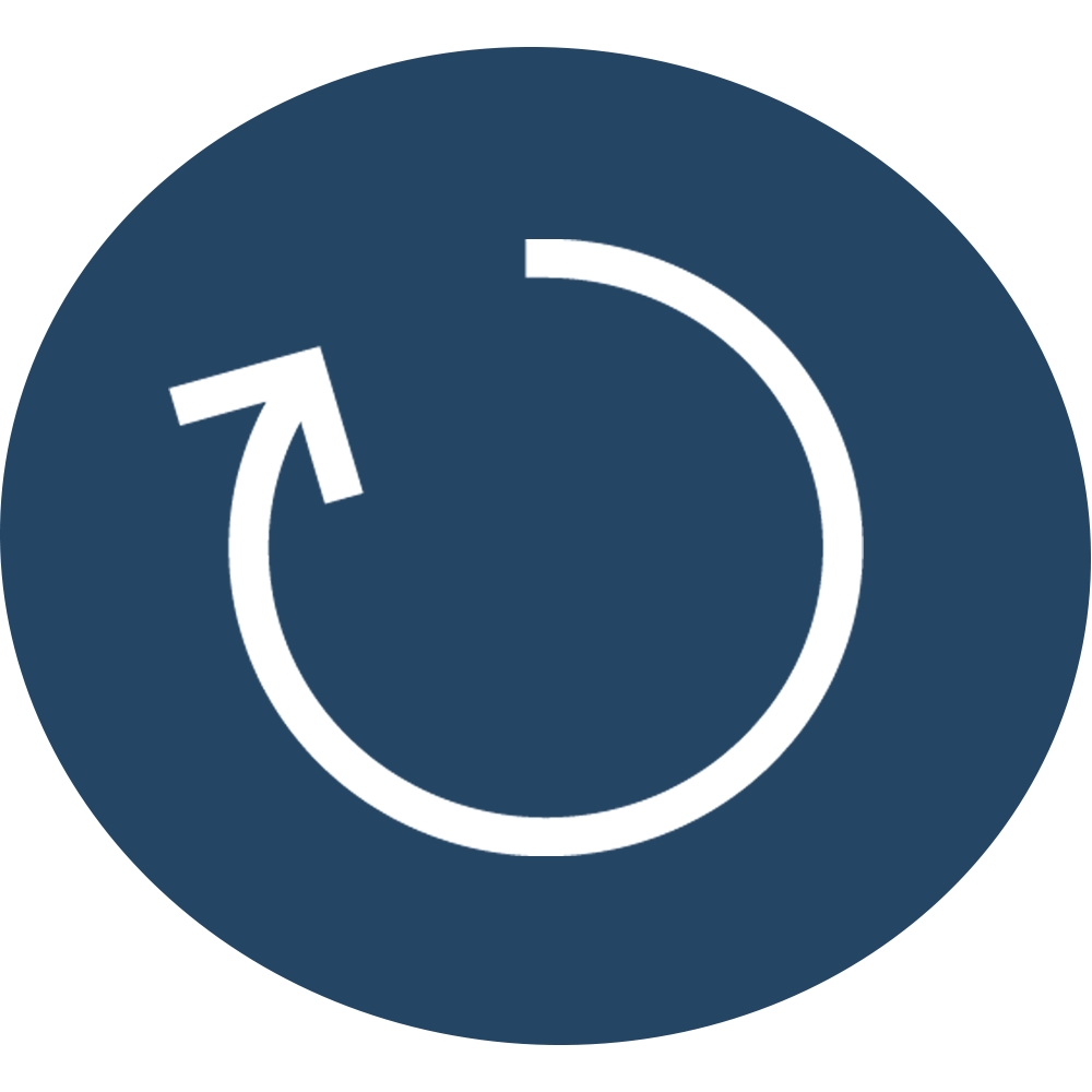 Icon Feedbackschleife Blau