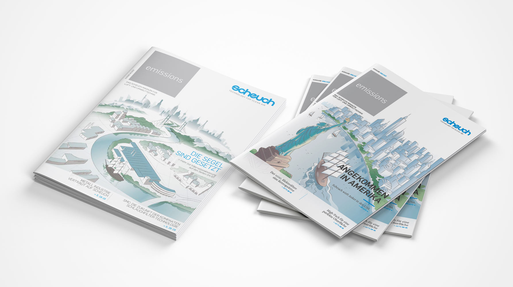 Scheuch A4 Brochure Mockup Mix